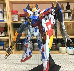 Wing Gundam Proto Zero Built & Painted MG 1/100 Model Kitの画像