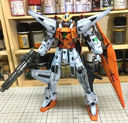 Kyrios Gundam Built & Painted 1/100 Model Kitの画像