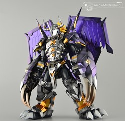 Black Wargreymon (Amplified) Built & Painted Model Kitの画像