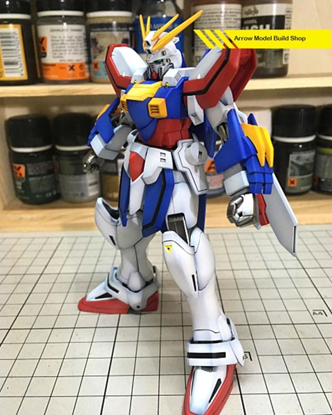 God Gundam Built & Painted HG Model Kitの画像